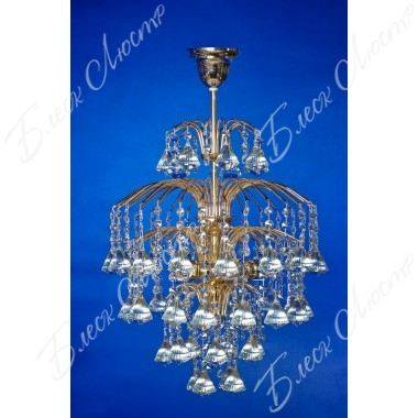 Хрустальная люстра Брызги шампанского с короной 5-ламповая