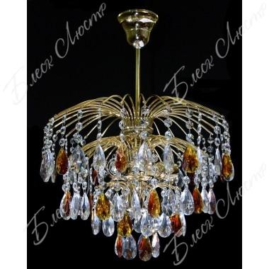 Хрустальная люстра Брызги шампанского коричневый журавлик