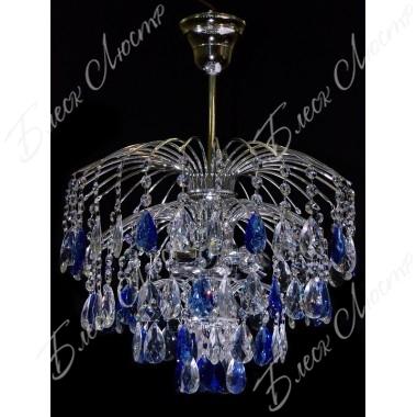 Хрустальная люстра Брызги шампанского Синий