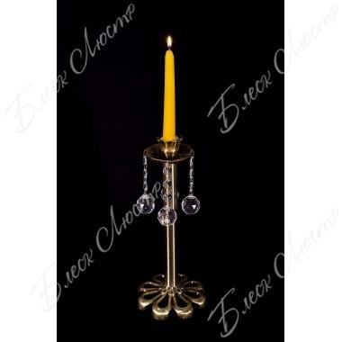 Бронзовый подсвечник  1 свечa