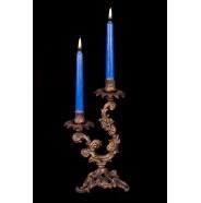 Бронзовый подсвечник 2 свечи
