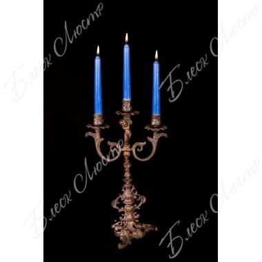 Бронзовый подсвечник 3 свечи