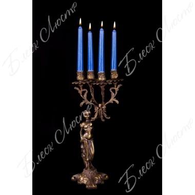 Бронзовый подсвечник 4 свечи