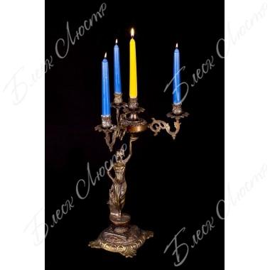 Бронзовый подсвечник X 4 свечи