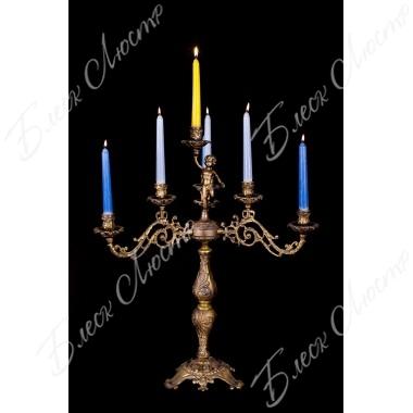 Бронзовый подсвечник 7 свечей