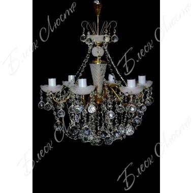Люстра Свечи матовая шар 8 ламп