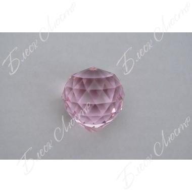Хрустальный шар розовый (40мм)