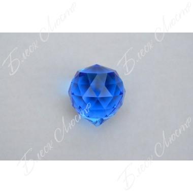 Хрустальный шар синий (40мм)