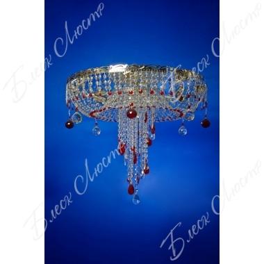 Люстра Анжелика-медуза- цветная хрусталь